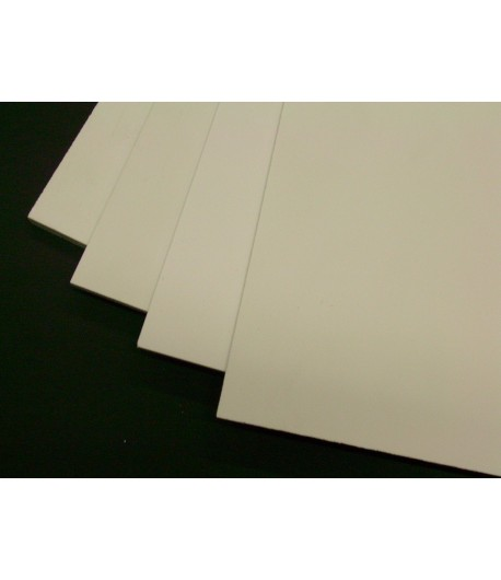 Komatex bianco 1mm 50cm x 50cm